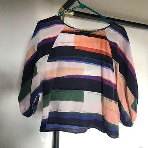 Maeve Silk Striped Top